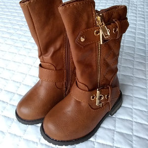NWoT Toddler's Size 4 - 5 Brown Faux Leather Boots